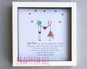 Personalised Love Button Frame/Print