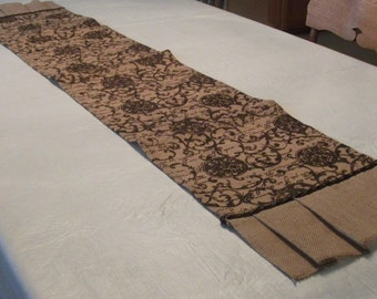 Burlap and Brown Table Runner