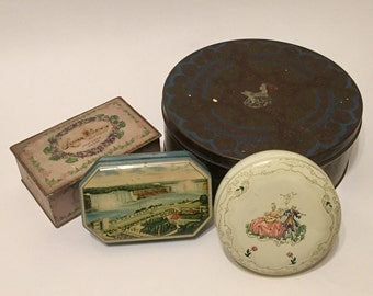 Vintage Candy Tins, 1930s-1950s
