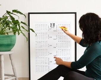 PRINTABLE CALENDAR 2017, Wall calendar 2017, Jewish holidays, Hebrew alphabet, Hebrew poster, Scandinavian art, Printable digital Calendar