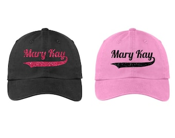 Glitter Mary Kay Hat, Mary Kay Cap, Mary Kay Hat, Mary Kay