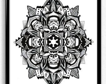 Star wars stormtrooper mandala print