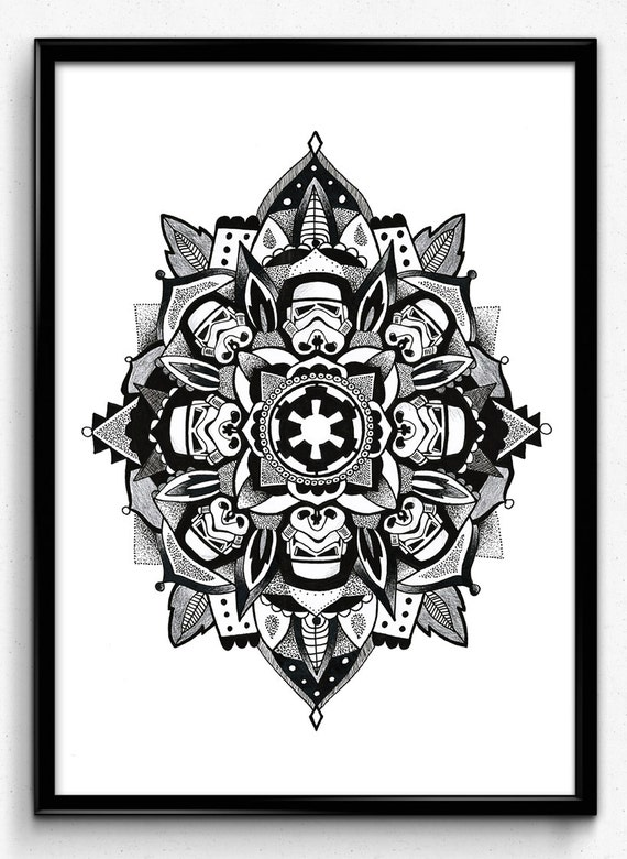 star wars stormtrooper mandala print. Black Bedroom Furniture Sets. Home Design Ideas