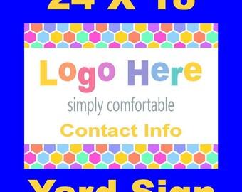 Pop-Up Sign/Handmade/yard sign/outdoor/advetrisement/Full color/sign