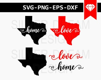 texas svg file, state svg, love texas svg, us state svg, state home map cut file, texas state shirt design, Cutting File, silhouette cameo