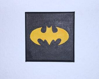 Batman logo on screen