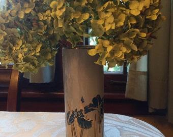 Royal Iris Otagiri Japan Porcelain Oval Vase