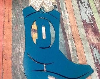 Western door hanger, Western Door decor, Cowboy Boot Sign, monogram wreath, Cowgirl Boot Sign, Cowgirl Decor, Western wreath, Gift for her