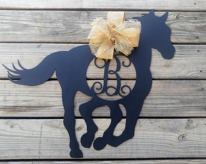 Horse Door Hanger, Horse Decorations, Horse With Monogram, Horse Wall Art, Horse , Horse Gifts, Horse Wreath, Horse Decor, Horse Sign