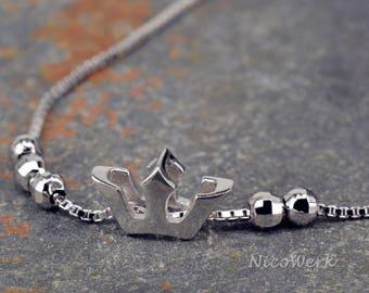 Silver bracelet Crown bracelet 925 silver bracelet ladies jewelry gift SAB128