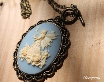 "C cameo necklace ""that C fairy"""