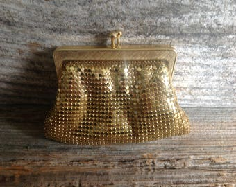 Vintage Whiting & Davis Inspired Gold Mesh Coin Purse