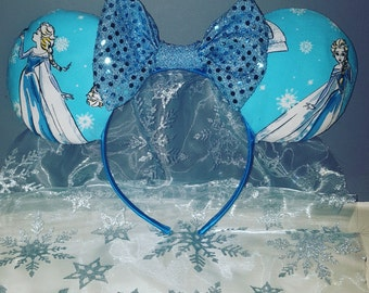 Elsa Minnie Mouse Ears