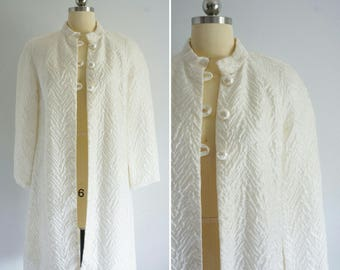 1960s Enchantment light jacket | vintage 60s white jacket | vintage party jacket