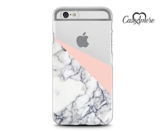 iPhone 7 case, iPhone 7 Plus case, Rubber iPhone case, Clear Samsung Galaxy case, iPhone 6 case, iPhone 6s case, S7 case, Geometric Marble