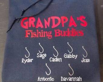 Grandpas Fishing Buddies Hoodie