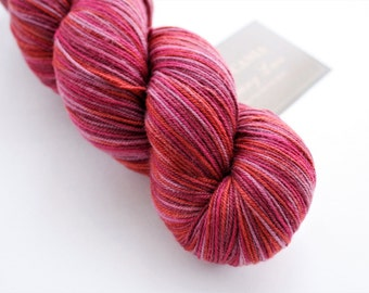 Variegated Sock Yarn, Fingering Weight Merino Wool Knitting Yarn: Araucania Botany Lace 2285