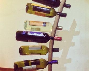 Bottle rack vertical ground