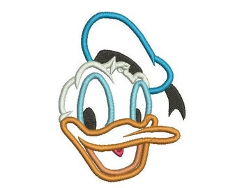 4 sizes - Donald Duck Applique Design, Donald Duck Embroidery Design, Machine Embroidery, Digital Instant Download, Donald Applique Design