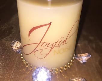 Make a joyful noise bling candle