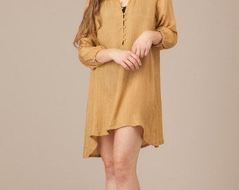 Silk Shirt Dress.