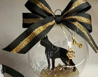 Boston Terrier Ornament, Boston Terrier, dog lover, animal lover, Floating Ornament,  Boston dog