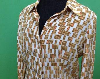 80s vintage Prada//Prada/Blouse/silk shirt Prada//original Vintage 80s vintage Rare Original Prada Prada Prada/////silk Prad