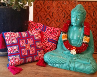 Rare Hmong Textile Beautifully Up Cycled Into A Statement Pillow