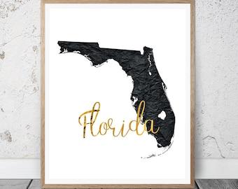 Florida Art Print, Florida Printable Art Print, Instant Download, Florida Wall Art, Travel Printable, Florida Art Print Wall Decor