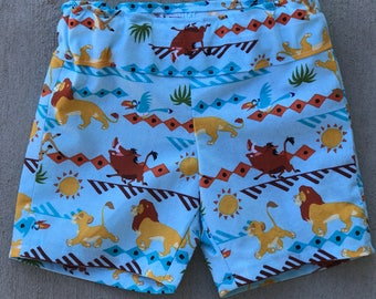 Disney Lion King boy shorts, Boy Lion Guard shorts, Boy clothes, Elastic shorts