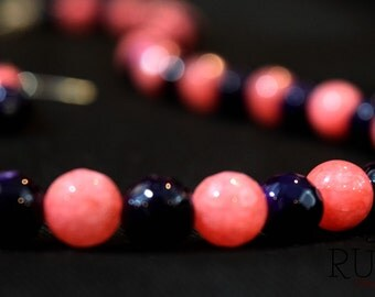 Pink and Plum Necklace Set
