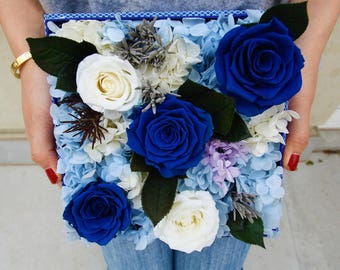 Blue Ocean (preserved flower)