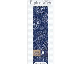 3 sheets paper fine paper 26 x 37.5 cm PAPERMANIA cashmere blue