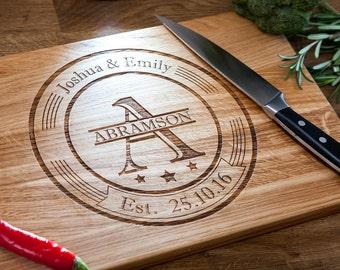 Personalized Cutting Board - Engraved Cutting Board, Custom Cutting Board, Wedding Gift, Housewarming Gift, 13o