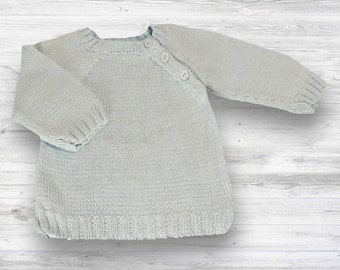 Hand Knit Sweater! Unisex knit sweater - baby boy hand knit sweater - baby keepsake - new baby gift - elegant hand knit sweater -baby shower