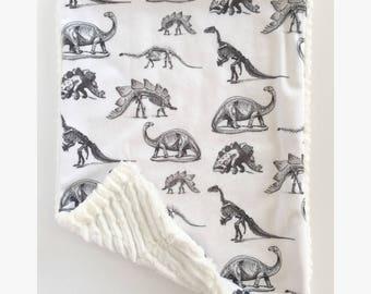 Lovey Blanket – Security Blanket – Newborn Blanket - Minky Blanket – Dinosaur Accessories – Comfort Blanket – Dinosaur Bedding