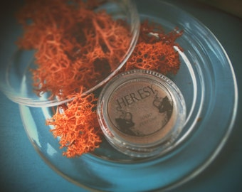 Heresy - Solid botanical perfume - a deep smoky, resinous scent, styrax, incense and flowers • Natural Solid Perfume • Organic Solid Perfume