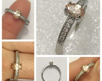 Gorgeous Champagne CZ Ring