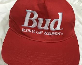 Vintage Cap Budweiser Adult Size King Of Beer