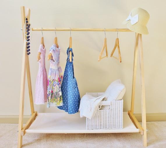 kids clothes rack with canvas storage shelf clothing rack. Black Bedroom Furniture Sets. Home Design Ideas