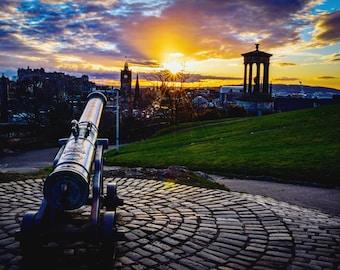 Calton Hill Cannon