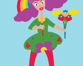 Glady Mckean - Thank You Card/love, greeting, appreciation, joy, fun