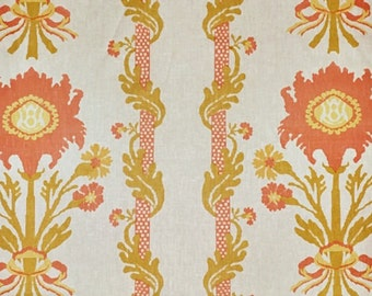 Quadrille Henriot Floral Linen Fabric by the yard