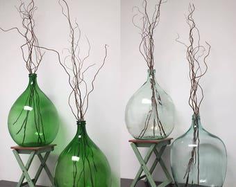 Vintage Green Demijohn