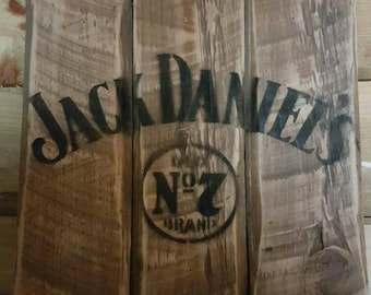 Jack Daniels Sign Upcycled From Reclaimed Wood