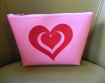 Pink on red Valentine bag