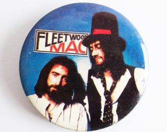 "Fleetwood Mac - Vintage 1970s 2.5"" Pin Back Button Badge"