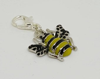 Enamel Bee Progress Keeper/ Stitch Marker