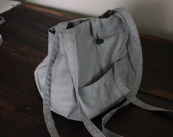 Marbled grey project bag