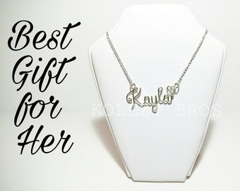 Custom Wire Name Necklace Personalized Jewellery Handmade Best Gift